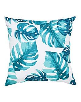 Leaf Print Outdoor Cushion
