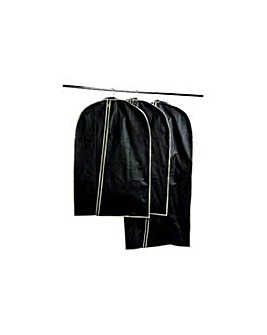 Set of 3 Garment Carriers - Black.