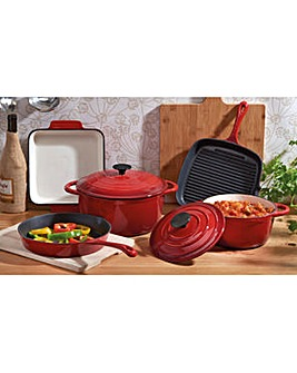 Cooks Professional 5Pc Cast Iron Pan Set