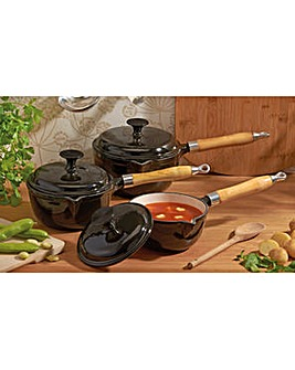 Cooks Professional 3Pc Cast Iron Pan Set
