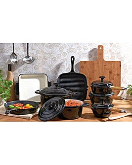 Cooks Professional 8Pc Cast Iron Pan Set