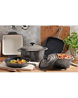 Cooks Professional 5Pc Cast Iron Pan Set