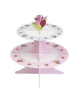 Vintage Rose  Cake Stand