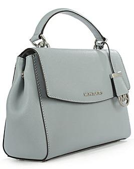Michael Kors Blue Leather Saffiano Bag