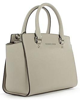 Michael Kors Grey Leather Top Zip Bag