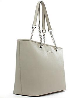 Michael Kors Grey Saffiano Leather Bag