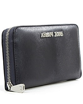 Armani Jeans Navy Zip Around Wallet