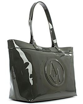 Armani Jeans Green Patent Shopper