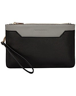 Smith & Canova Zip Top Clutch/ Cross
