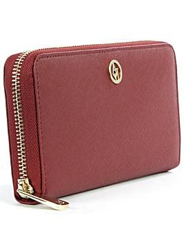 Armani Jeans Leather Zip Around Wallet