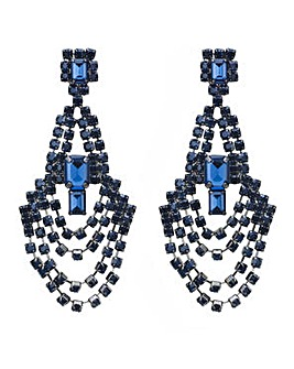 Mood Blue loop chandelier earring