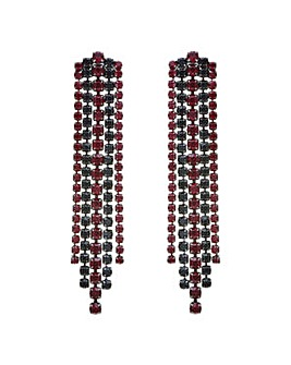 Mood Black and red drop earring