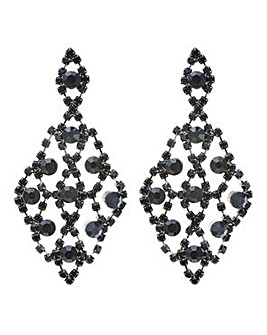 Mood crystal diamante chandelier earring