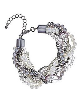 Mood Pearl and bead twist bracelet