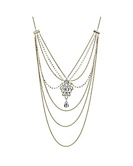 Mood Gold ornate body chain necklace