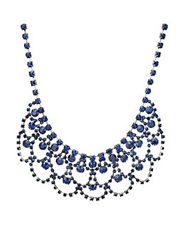 Mood Blue crystal statement necklace