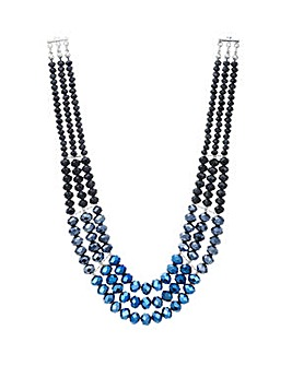 Mood Blue and black beaded necklace