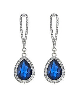 Mood Metallic blue teardrop drop earring