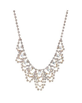 Mood Rose gold diamante loop necklace