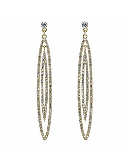 Mood Gold pave double loop earring