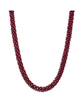 Mood Red cluster beaded necklace