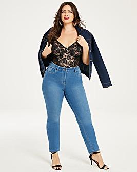 Lexi High Waist Slim Leg Jeans Short