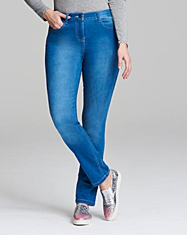 Lexi High Waist Slim Leg Jeans Long