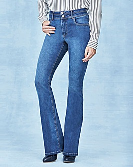 Blue Shape & Sculpt Bootcut Jeans Long