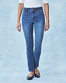 Blue Shape & Sculpt Straight Jeans Reg