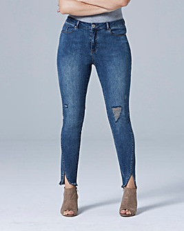 Luna Split Hem Slim Leg Jeans Reg