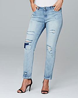 Extreme Rip and Repair Boyfriend Jeans