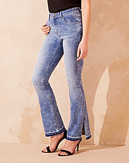 Willow Split Hem Bootcut Jeans Reg