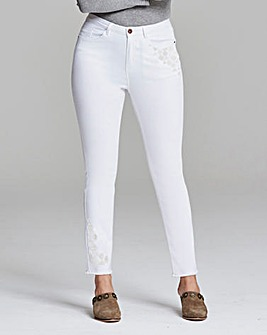 Hollie Embroidered Slim Leg Jeans
