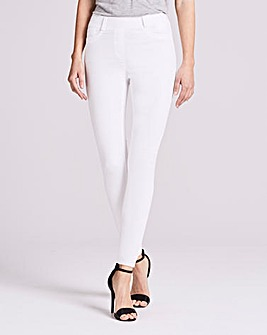 White Amber Skinny Jeggings Short