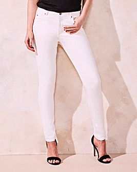 White Shape & Sculpt Skinny Jeans Short