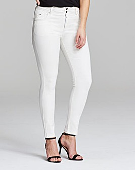 White Shape & Sculpt Skinny Jeans Long