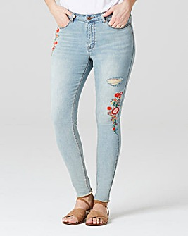Chloe Embroidered Skinny Jeans Reg