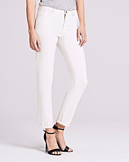 Ecru Sadie Relaxed Slim Leg Jeans Long