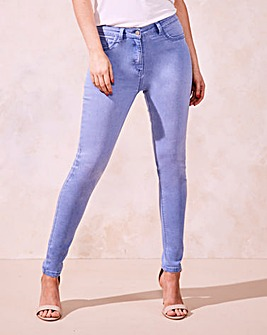 Light Blue Sophia Fly Front Jeggings Reg