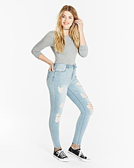 Chloe High Waist Distressed Jeans