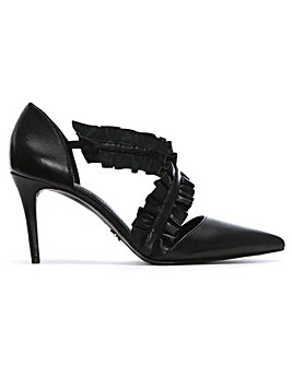 Michael Kors Ruffle Strap Heeled Pumps