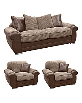 Adelaide 3 Seater Sofa and 2 Chairs