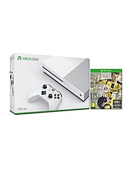 Xbox One S 1TB White Console  FIFA 17
