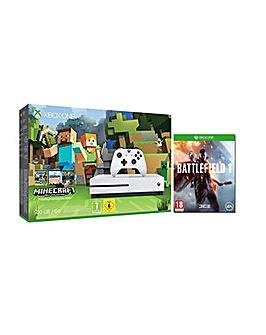 Xbox One S 500GB Minecraft Battlefield 1