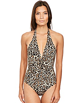 Icon Jungle Halter Control Swimsuit