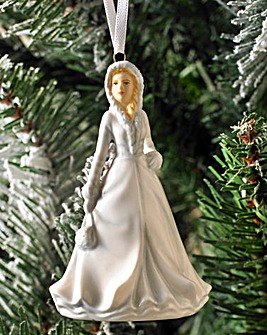 Royal Doulton White Christmas Ornament