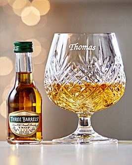Crystal Brandy Glass with 5cl Brandy