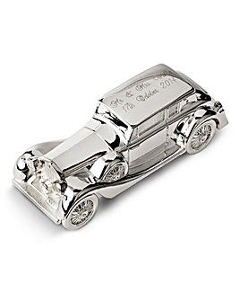 Personalised Silver Plated Wedding Car