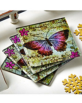 Butterfly Glass Coasters