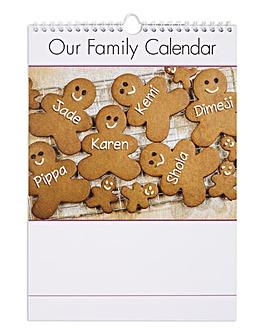 Family Calendar - 6 Family Members